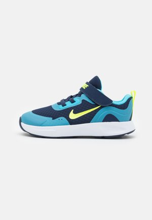 WEARALLDAY UNISEX - Sneakers - midnight navy/volt/baltic blue/white