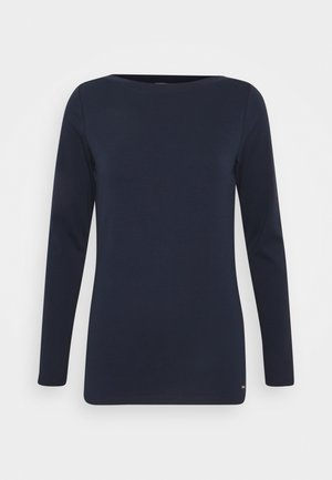 BOAT NECK BASIC LONGSLEEVE - Long sleeved top - real navy blue