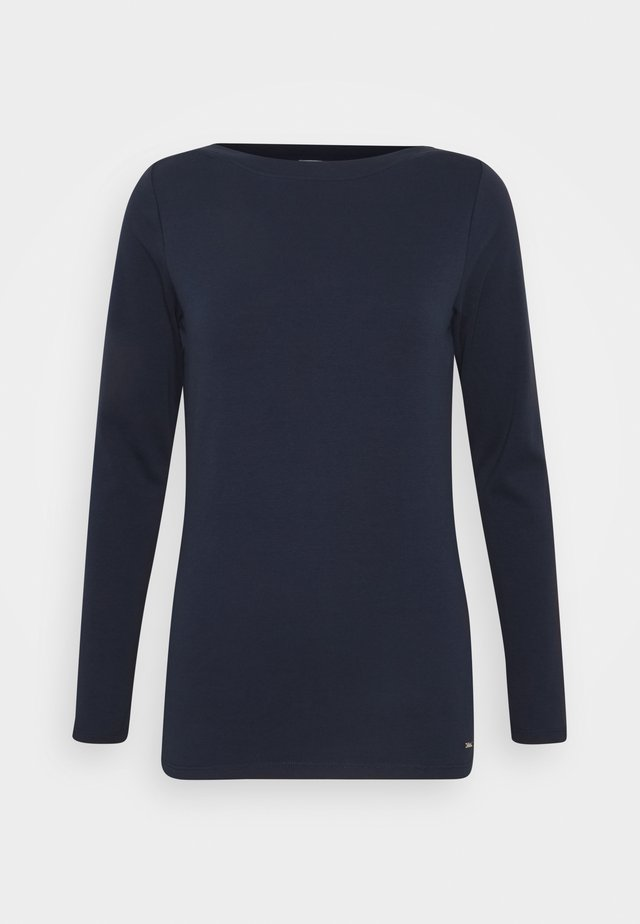 BOAT NECK BASIC LONGSLEEVE - Top s dlouhým rukávem - real navy blue