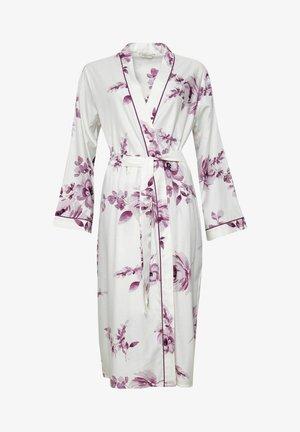 Dressing gown - burgundy floral