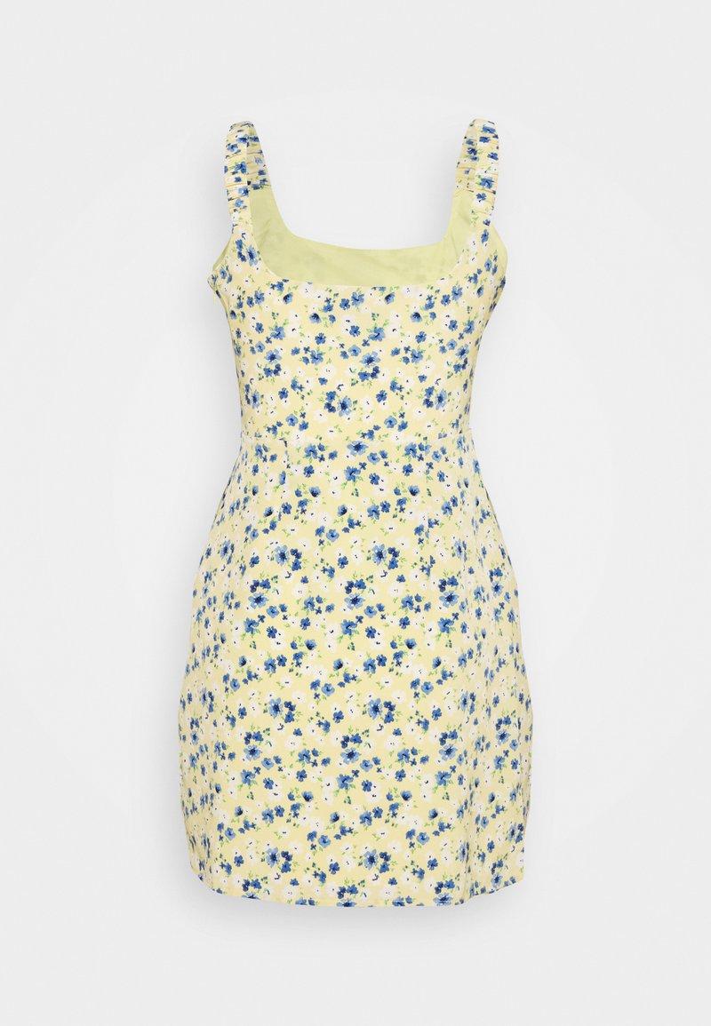 Fashion Union - SCUNCH - Day dress - yellow/blue