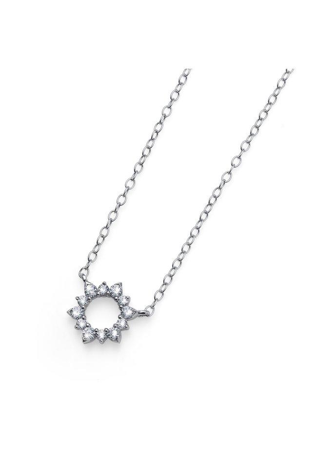 MIT ANHÄNGER SUNLY AG CZ - Necklace - weiß