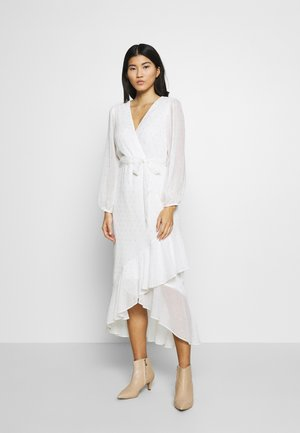 CLIPPED FRILL MIDAXI DRESS - Robe longue - ivory