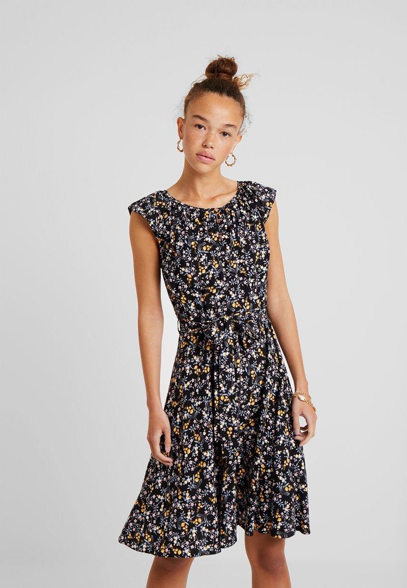 Dorothy Perkins Petite - DITSY BUTTON DRESS - Day dress - black