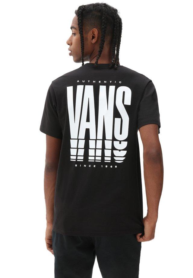 MN VANS REFLECT SS - Print T-shirt - black