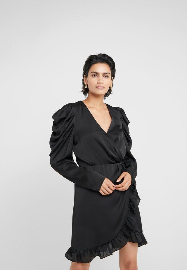 LAURA WRAP DRESS - Sukienka koktajlowa - black