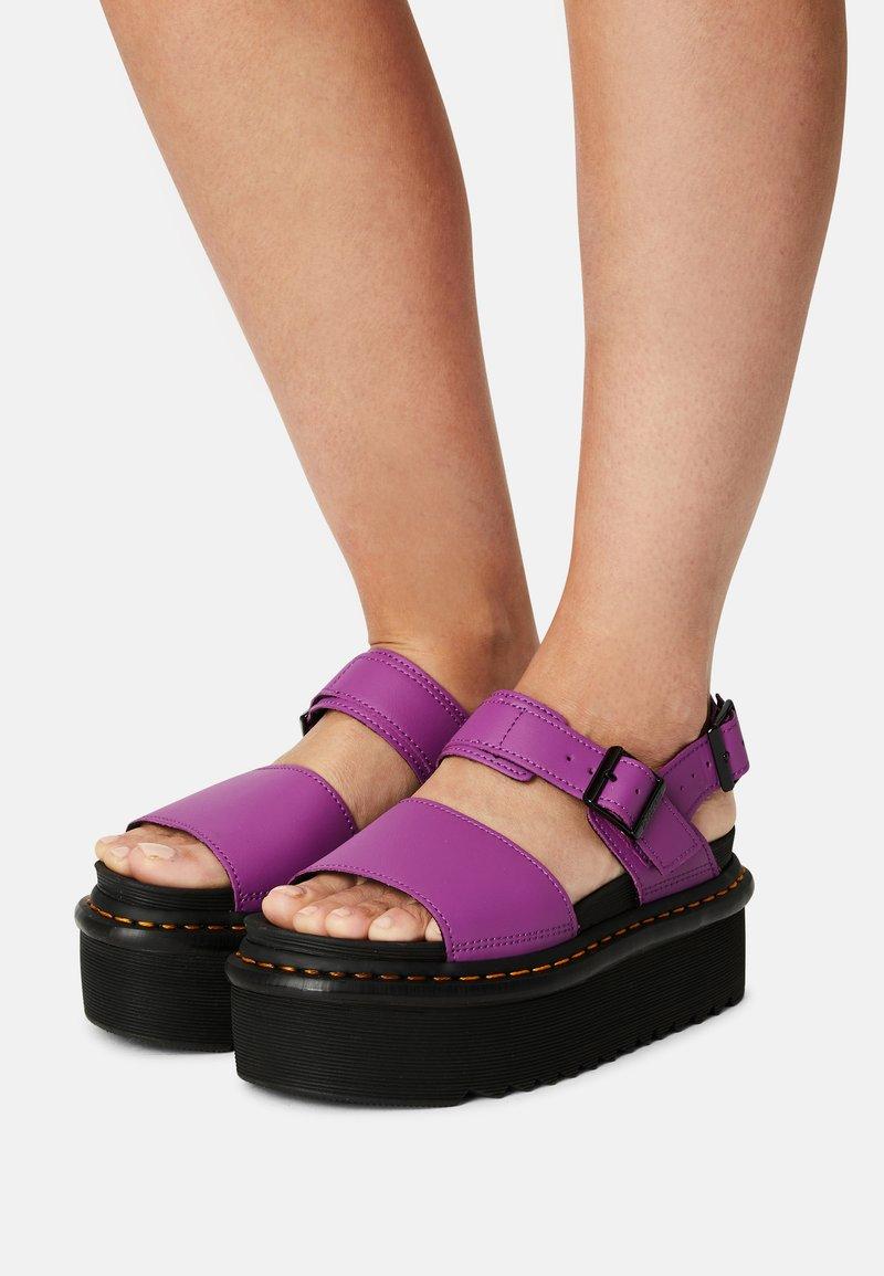 Dr. Martens - VOSS QUAD - Platform sandals - bright purple
