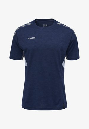 TECH MOVE - Print T-shirt - marine melange