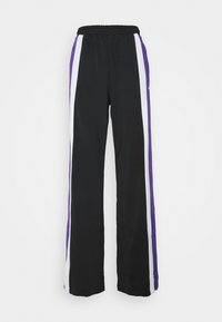 Fila Tall - BECCA TRACK PANTS OVERLENGTH - Verryttelyhousut - black/ultra violet/bright white - 3