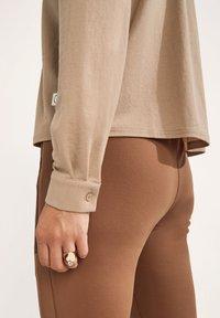 comma casual identity - Button-down blouse - dark beige - 3