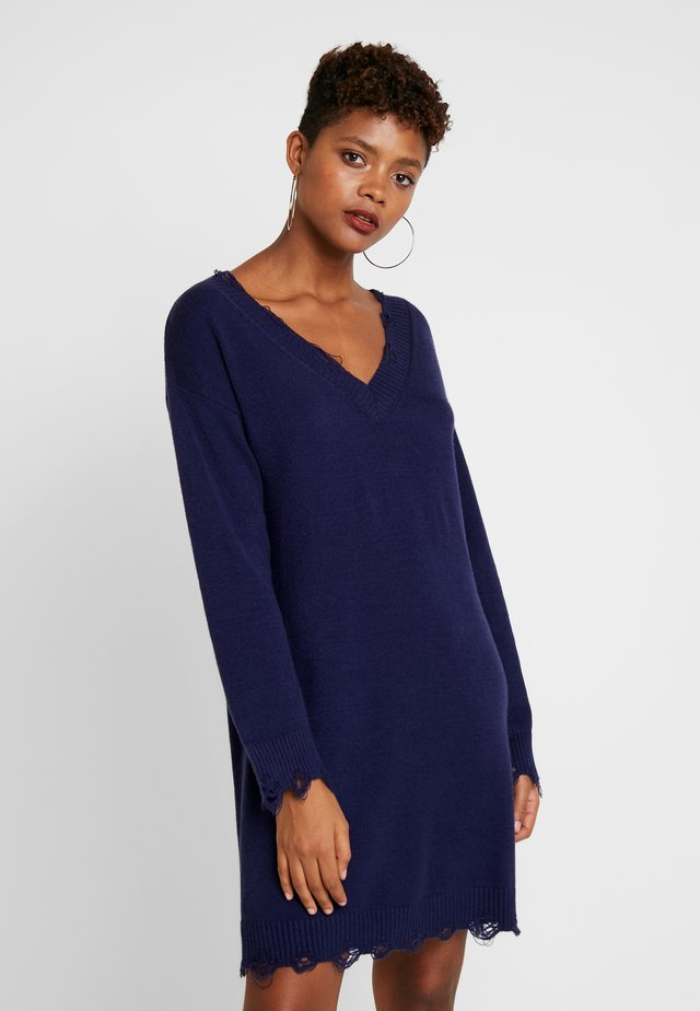 DESTRUCTION DRESS - Jumper dress - navy