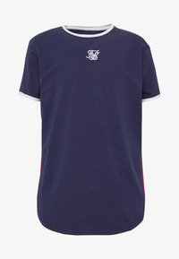 SIKSILK - FADE PANEL SLIDE TEE - Print T-shirt - navy/neon - 3
