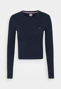 Tommy Jeans - REGULAR - Sweter - twilight navy - 5