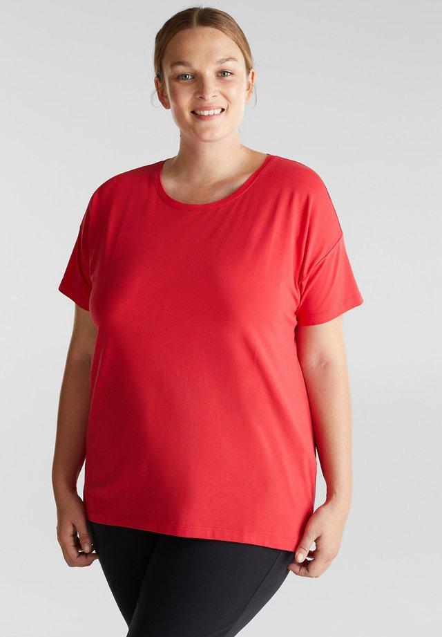 CURVY MIT ORGANIC COTTON - T-shirt basique - red