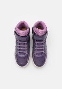 Geox - DISNEY FROZEN SKYLIN GIRL  - Vysoké tenisky - dark violet/mauve - 3