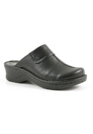 CAROLE - Heeled mules - schwarz