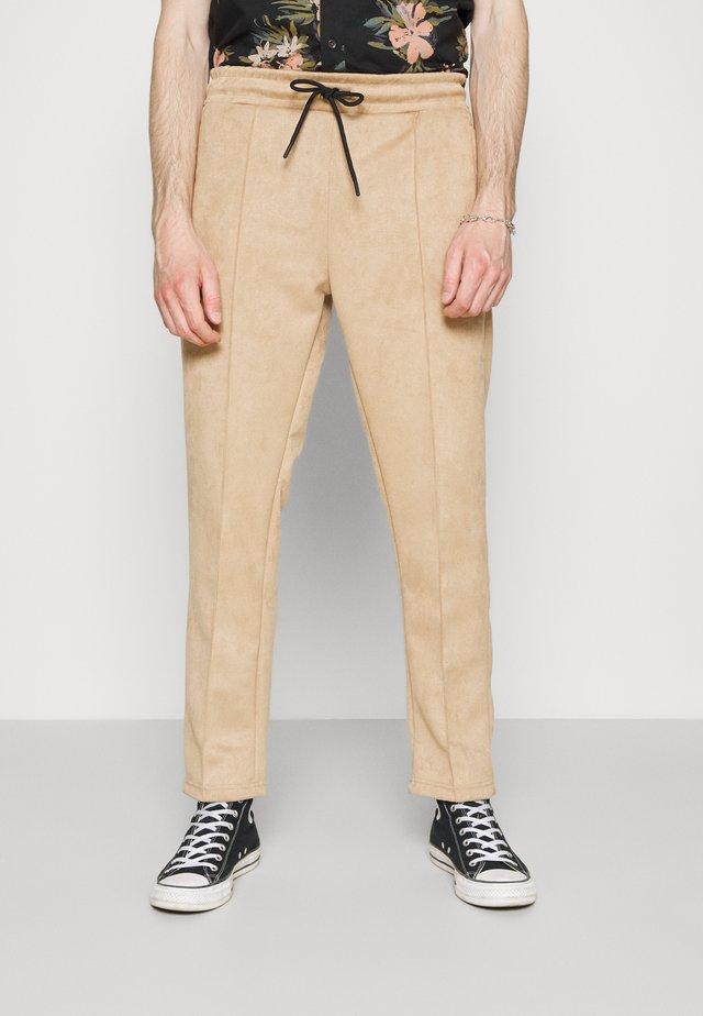 WIDE PANTS - Kalhoty - almond