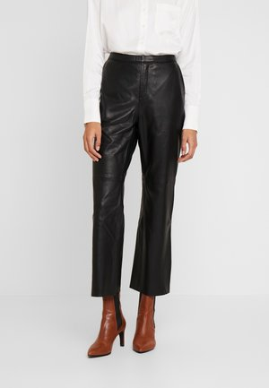 MARVELLA - Leather trousers - black