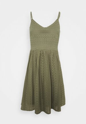 VMHONEY LACE SINGLET DRESS PETITE - Day dress - oil green