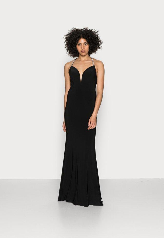 Žerzejové šaty - schwarz