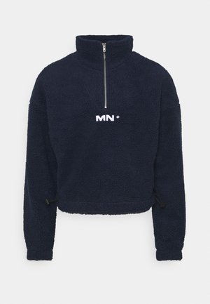 BOXY FUNNEL NECK OVERHEAD - Felpa in pile - navy