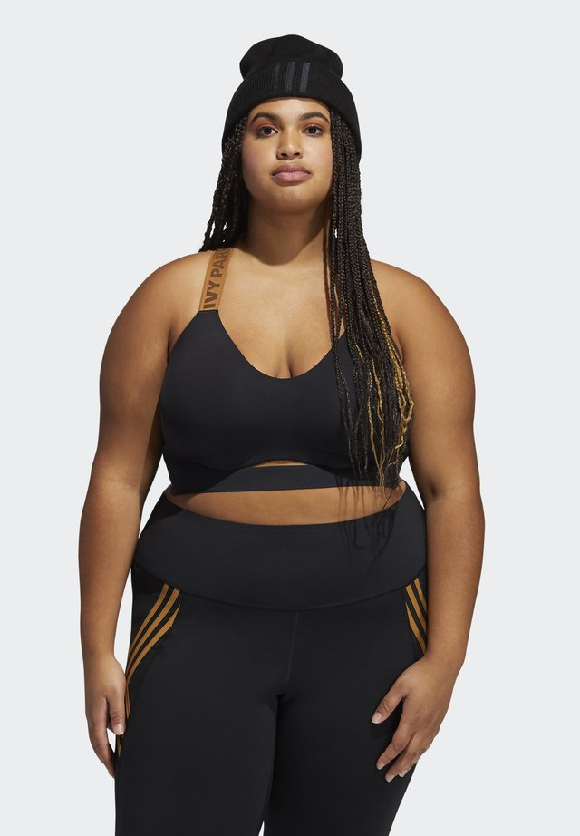 IVY PARK CUTOUT MEDIUM SUPPORT BRA (PLUS SIZE) - Sujetador deportivo - black