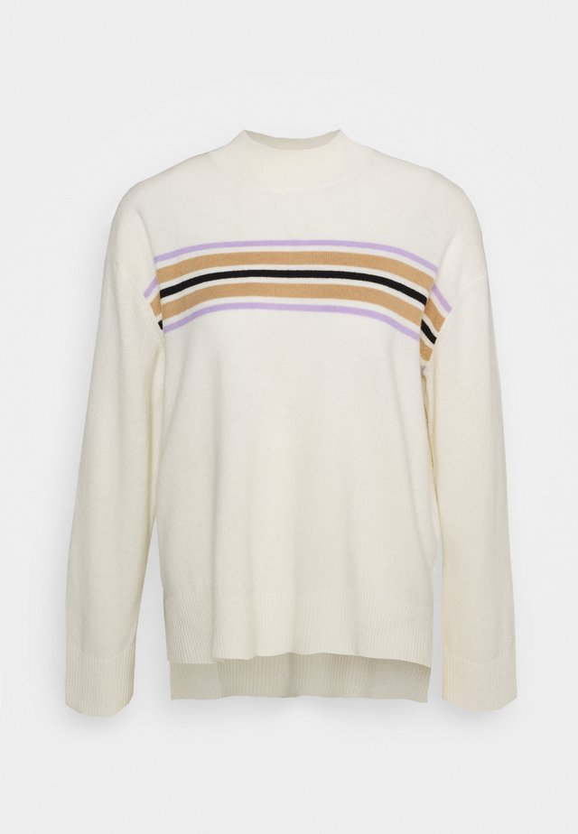 AGNES TURTLE NECK - Svetr - cream/multi