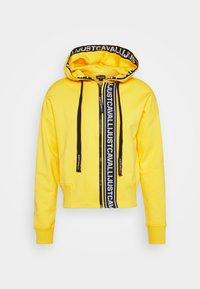 FELPA CON ZIP - Zip-up hoodie - vibrant yellow