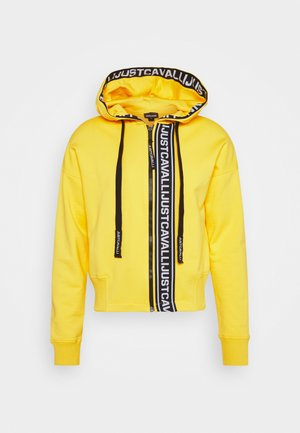 FELPA CON ZIP - Zip-up hoodie - vibrant yellow