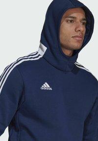 adidas Performance - TIRO  SWEAT HOODIE - Luvtröja - blue - 3