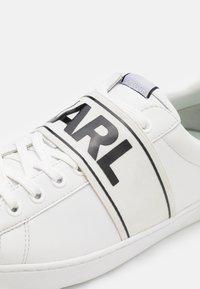 KARL LAGERFELD - KOURT BAND LACE - Sneakers basse - white - 5