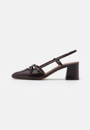 SLING BACK - Classic heels - bordeaux