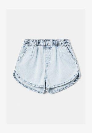 Denim shorts - blu