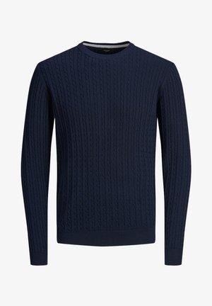 Stickad tröja - maritime blue