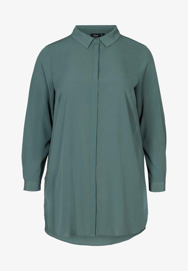 Overhemdblouse - dark green