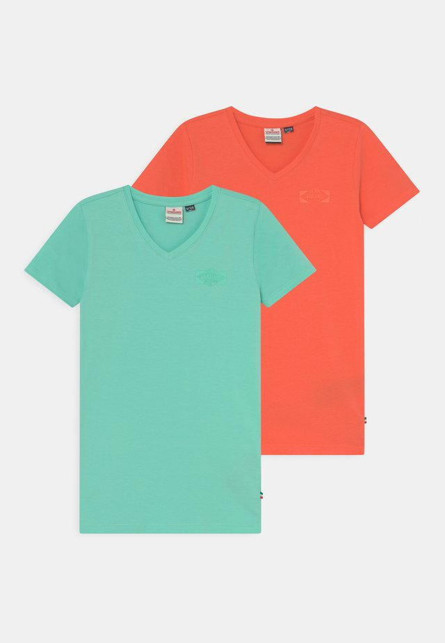 HAIRO 2 PACK - T-shirts basic - active mint