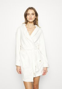 TOM TAILOR - XMAS BATHROBE - Dressing gown - white medium solid - 1