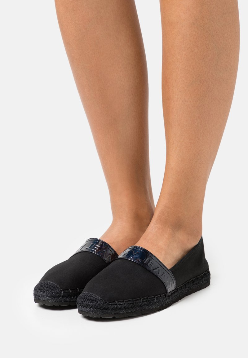 Tommy Jeans - IRIDESCENT BRANDING  - Espadrilles - black