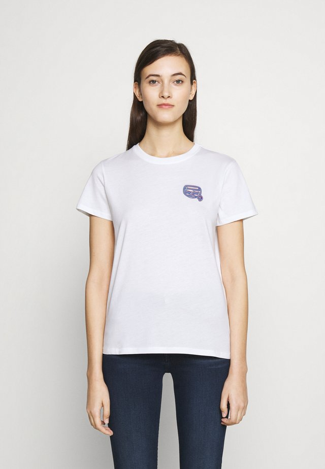 MINI IKONIK BALLOON TEE - Print T-shirt - white