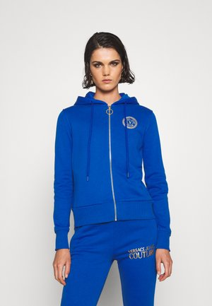 Sweater met rits - blue/gold