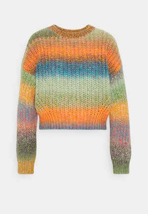 BALLOON SLEEVE JUMPER - Strikkegenser - space dye multi