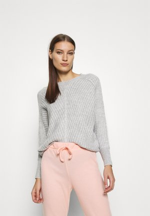BATWING CREW NECK - Strickpullover - light grey
