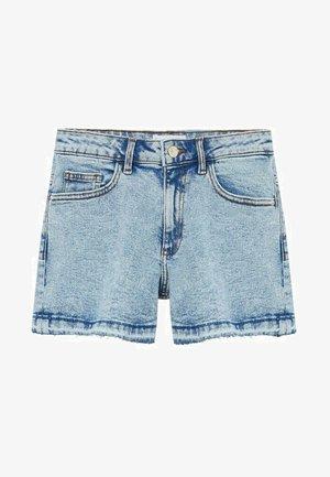 Jeansshort - średni niebieski