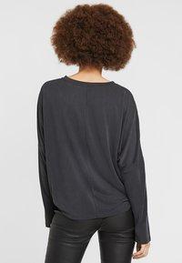 Monki - CLAUDIA - Long sleeved top - black - 2