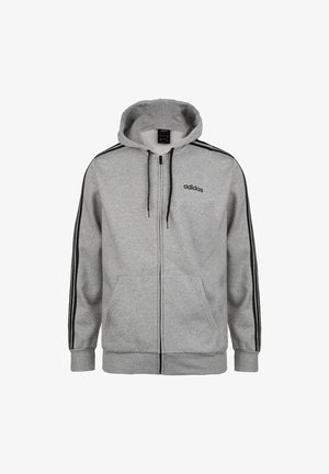 Zip-up hoodie - medium grey heather / black