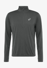 ASICS - ZIP - Long sleeved top - dark grey - 3