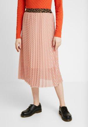SLAMILY SKIRT - A-line skirt - burnt ochre stripes
