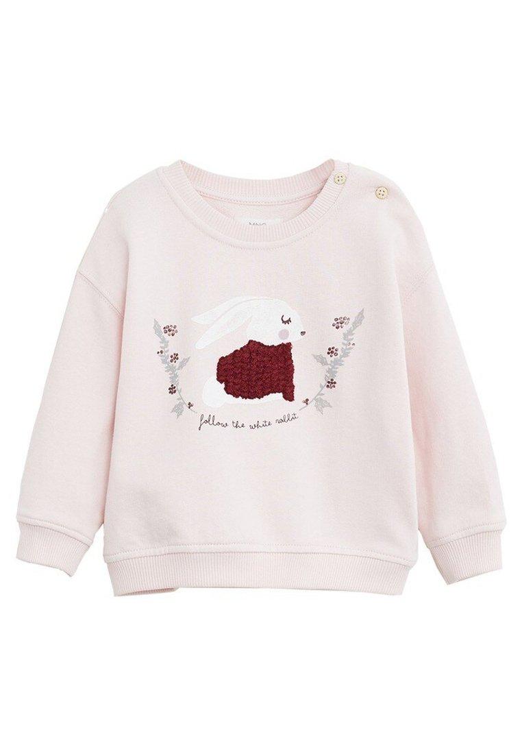 Große Förderung Mango BAUMWOLL-SWEATSHIRT MIT STICKDETAIL - Sweatshirt - rosa | Damenbekleidung 2020