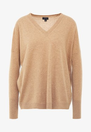 ROSAYLN CASHMERE SWEATER - Sweter - heather camel