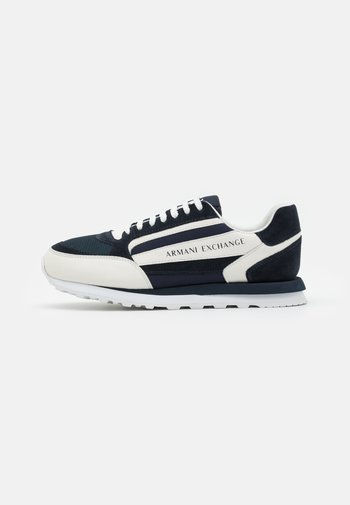 Trainers - navy/off white
